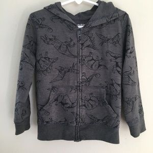 Jumping Beans Dinosaur Charcoal Hoodie Size 4T